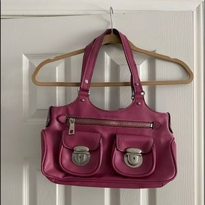 Marc Jacobs, hot pink double latch bag